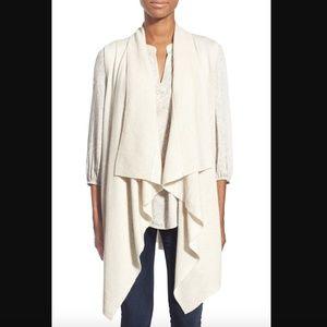 Halogen Wool Cashmere Drape Front Sweater Vest XS